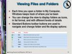 viewing files and folders