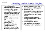 learning performance strategies