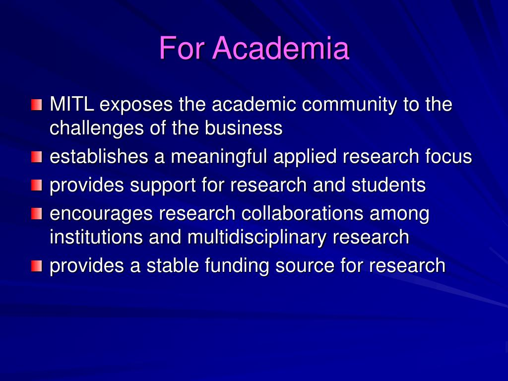 For Academia