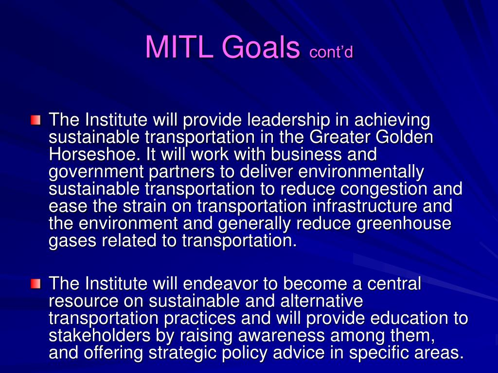 MITL Goals
