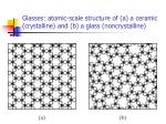 glasses atomic scale structure of a a ceramic crystalline and b a glass noncrystalline