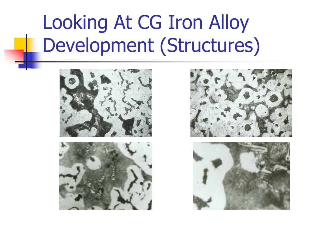 Looking At CG Iron Alloy Development (Structures)