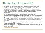 the ayn rand institute ari