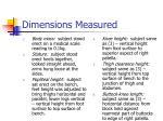 dimensions measured