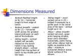 dimensions measured7