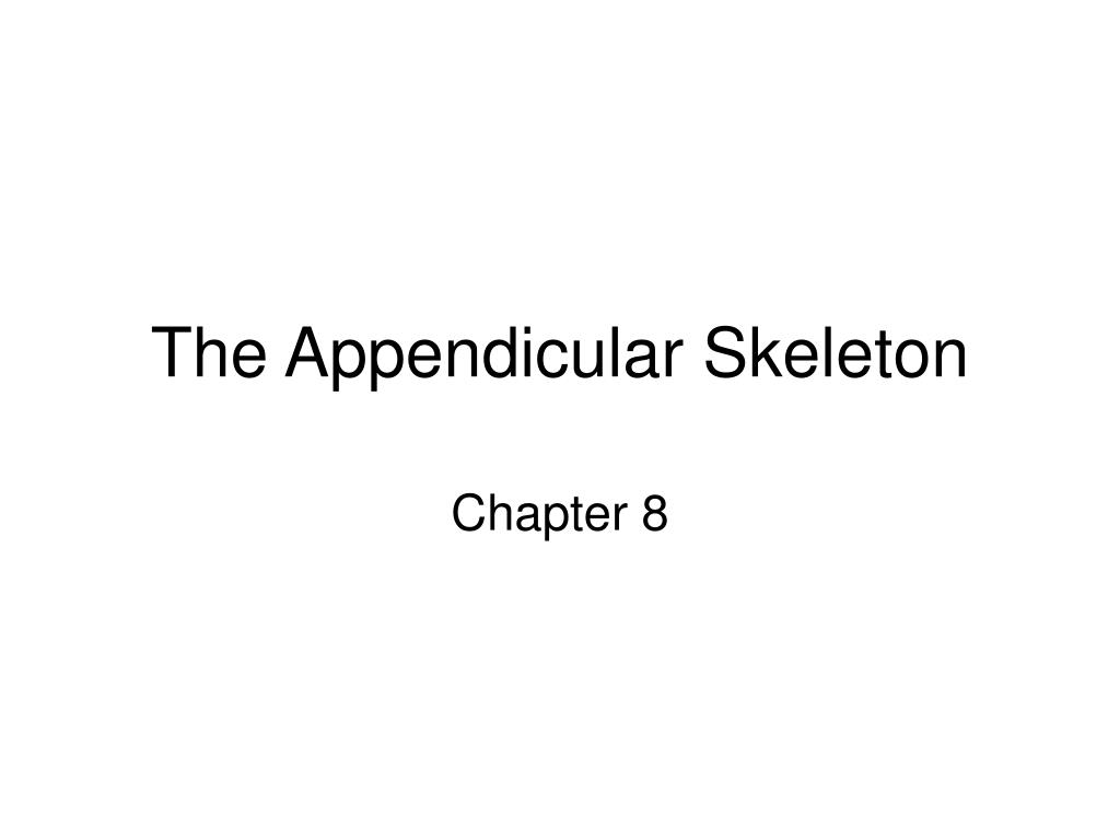 the appendicular skeleton l.