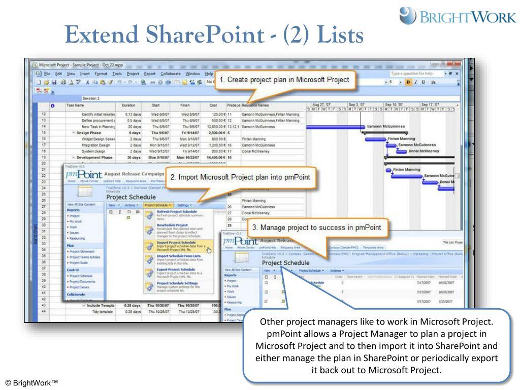 Extend SharePoint - (2) Lists