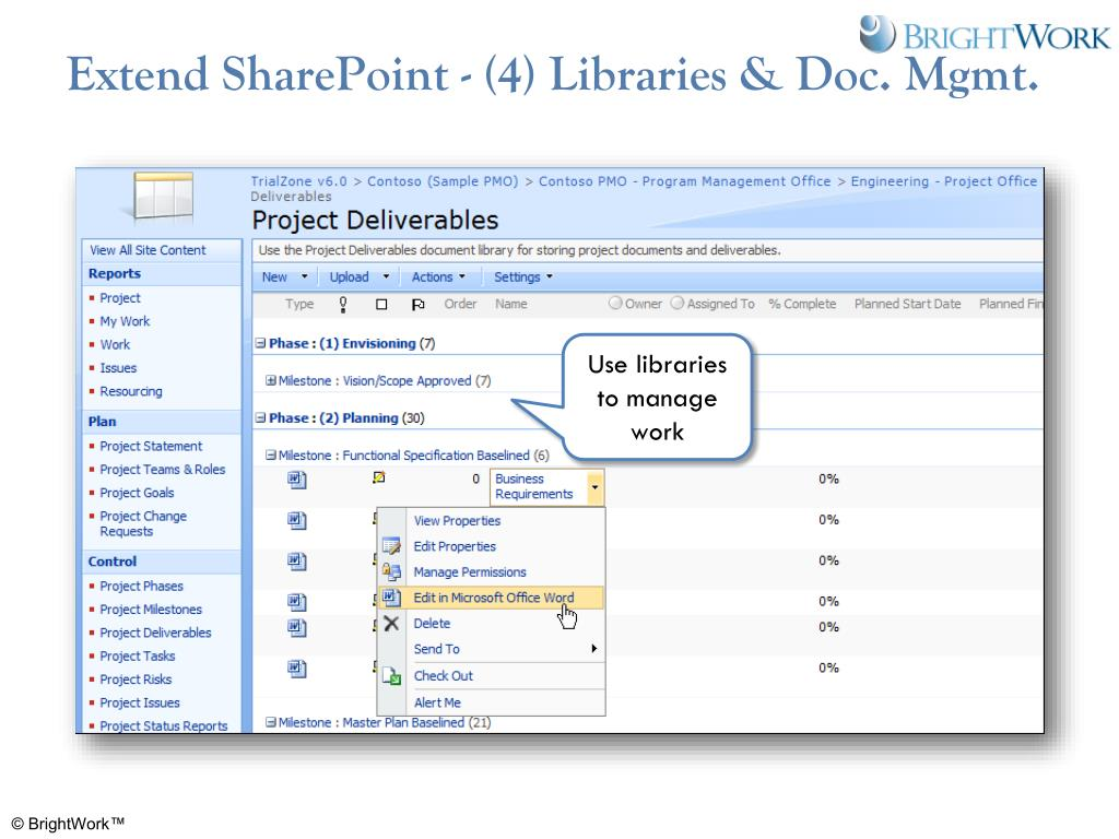 Extend SharePoint - (4) Libraries & Doc. Mgmt.