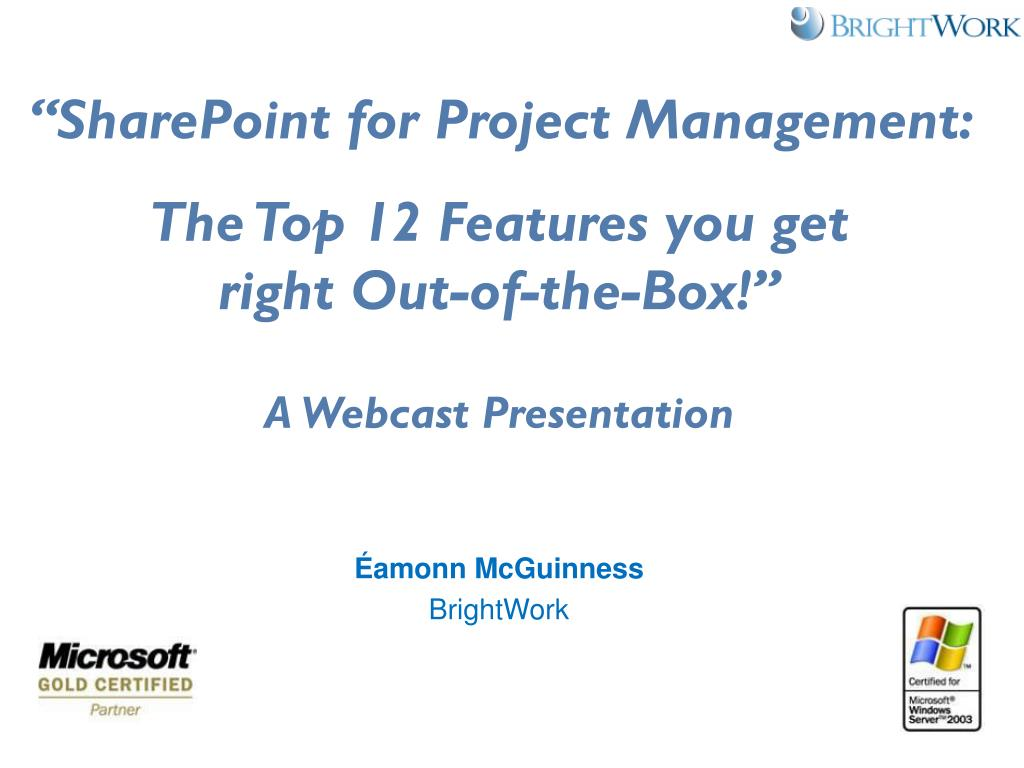 Ppt Sharepoint For Project Managementtop 12 Features Powerpoint