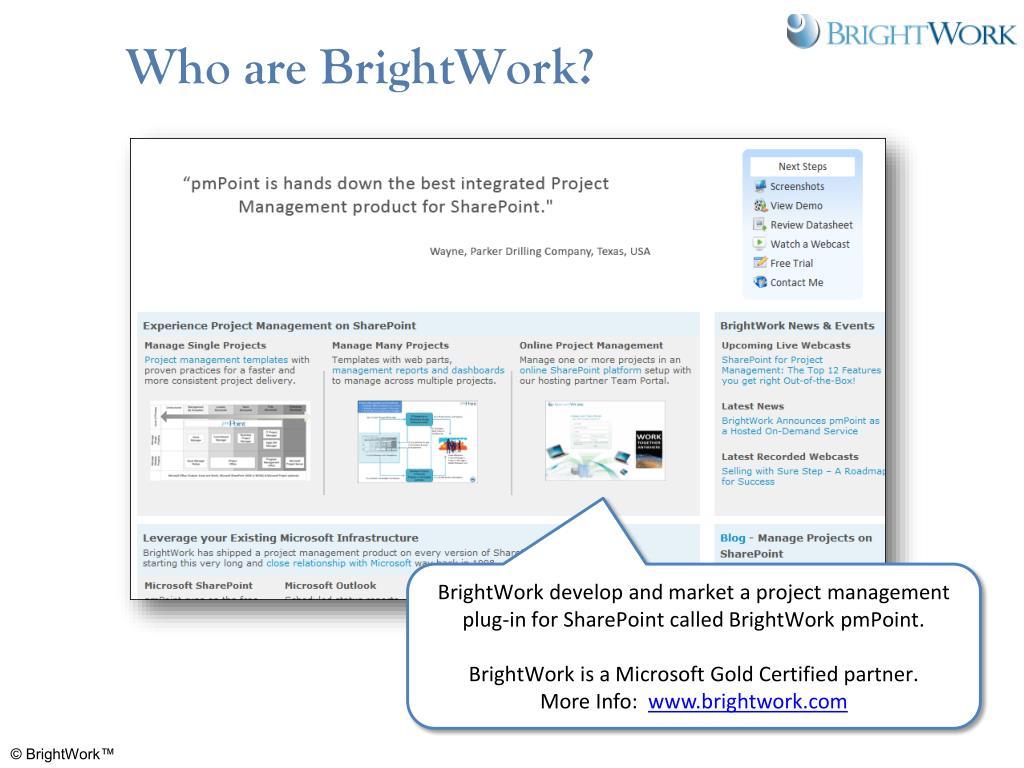 Who are BrightWork?