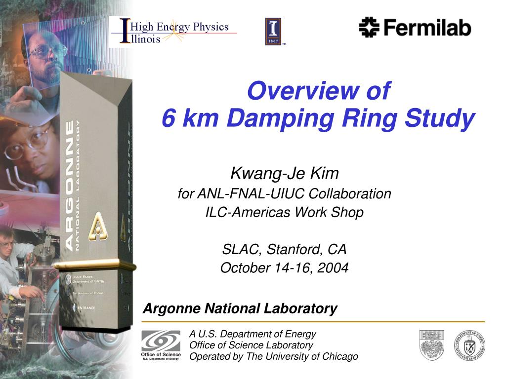 overview of 6 km damping ring study l.