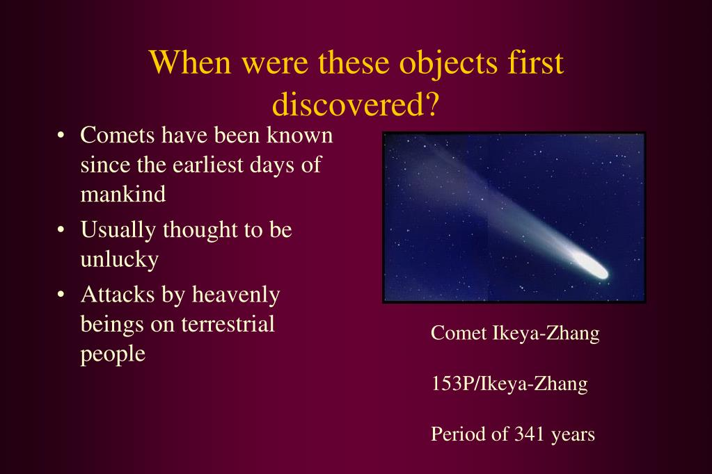 When were these objects first discovered?