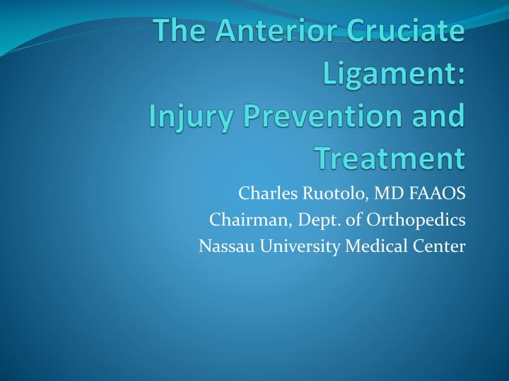 an essay on understanding the acl injuries prevention and treatment Anterior cruciate ligament injury essay two-the anterior cruciate ligament prevention with information and treatment plans to.