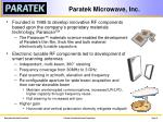 paratek microwave inc