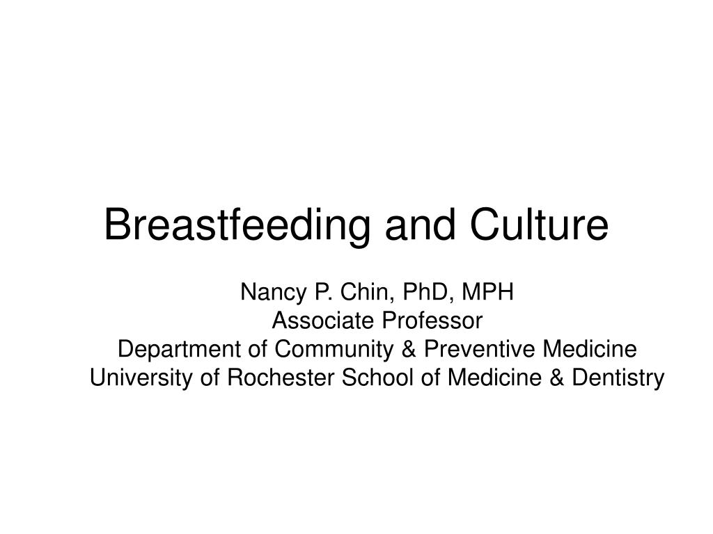 breastfeeding and culture l.