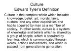 culture edward tyler s definition