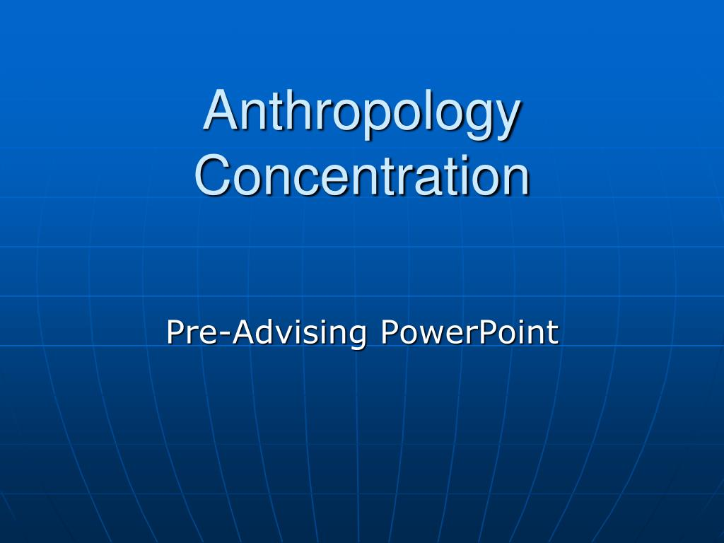 anthropology concentration l.
