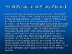 field school and study abroad