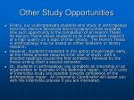other study opportunities