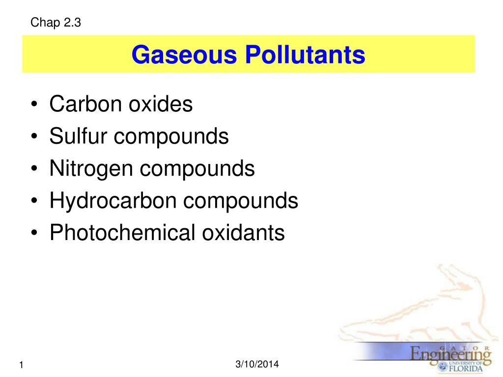 gaseous pollutants l.