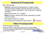reduced n compounds