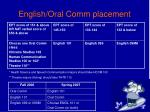english oral comm placement