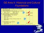 ge area ii historical and cultural foundations