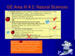 ge area iii a 2 natural sciences