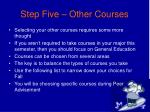 step five other courses