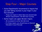 step four major courses