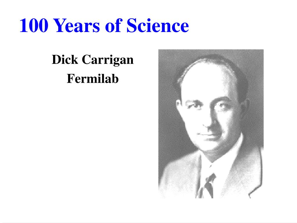100 years of science l.