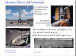 history of space and astronomy