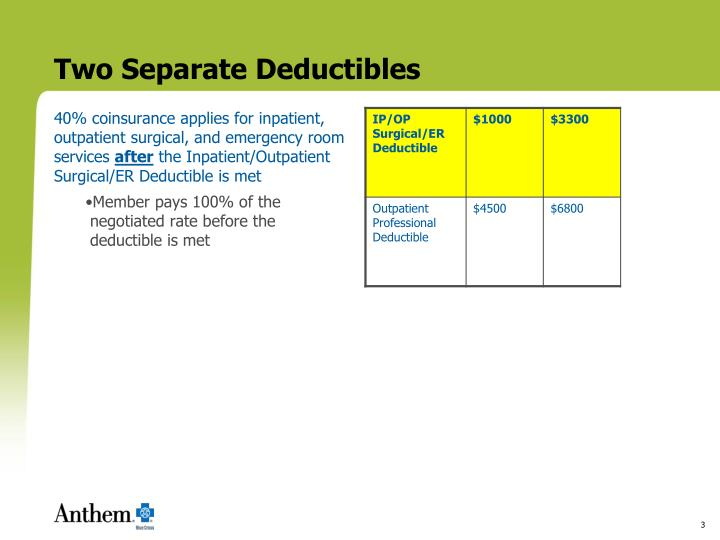 Two separate deductibles3