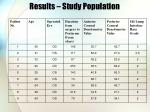 results study population