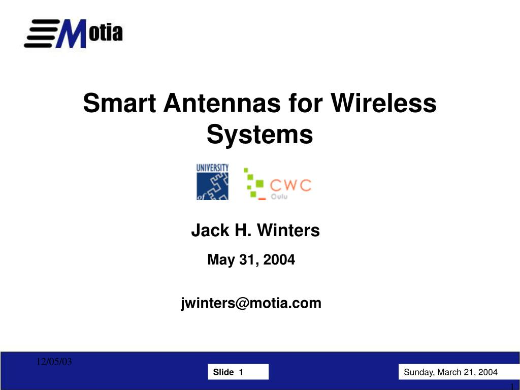 smart antennas for wireless systems l.