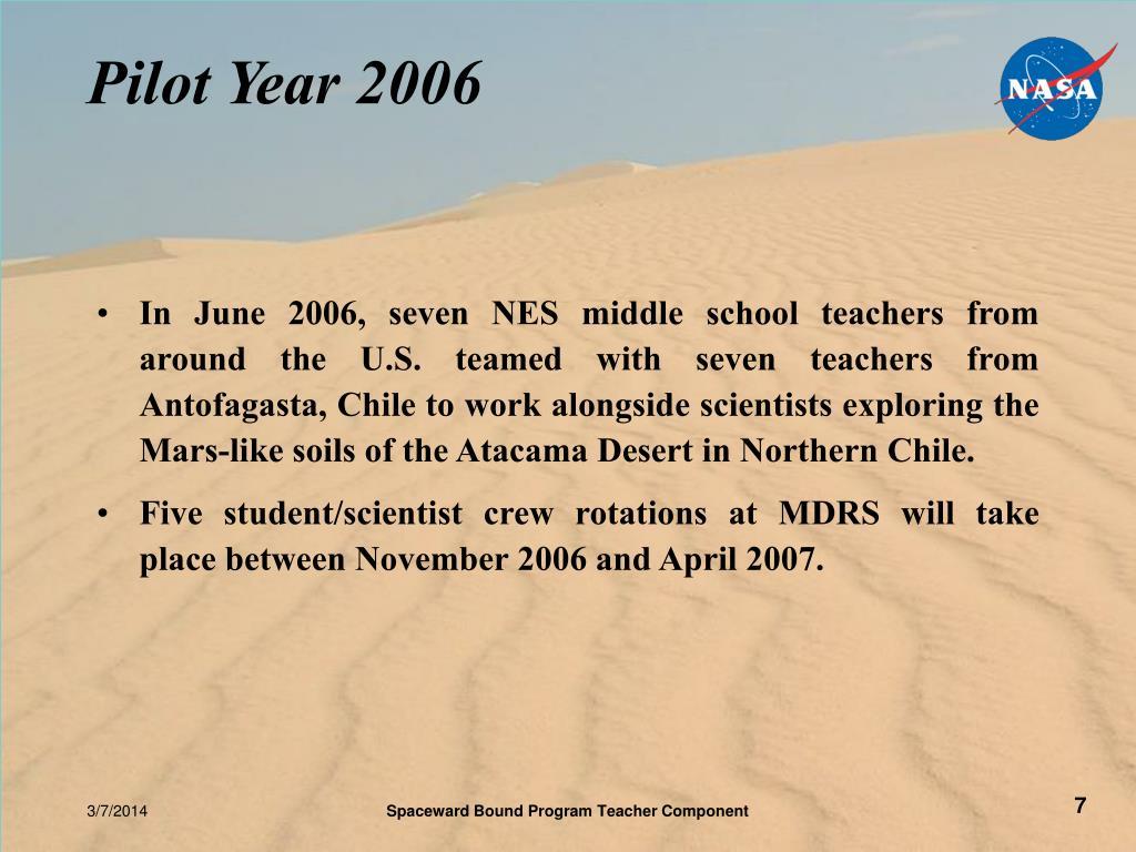 Pilot Year 2006