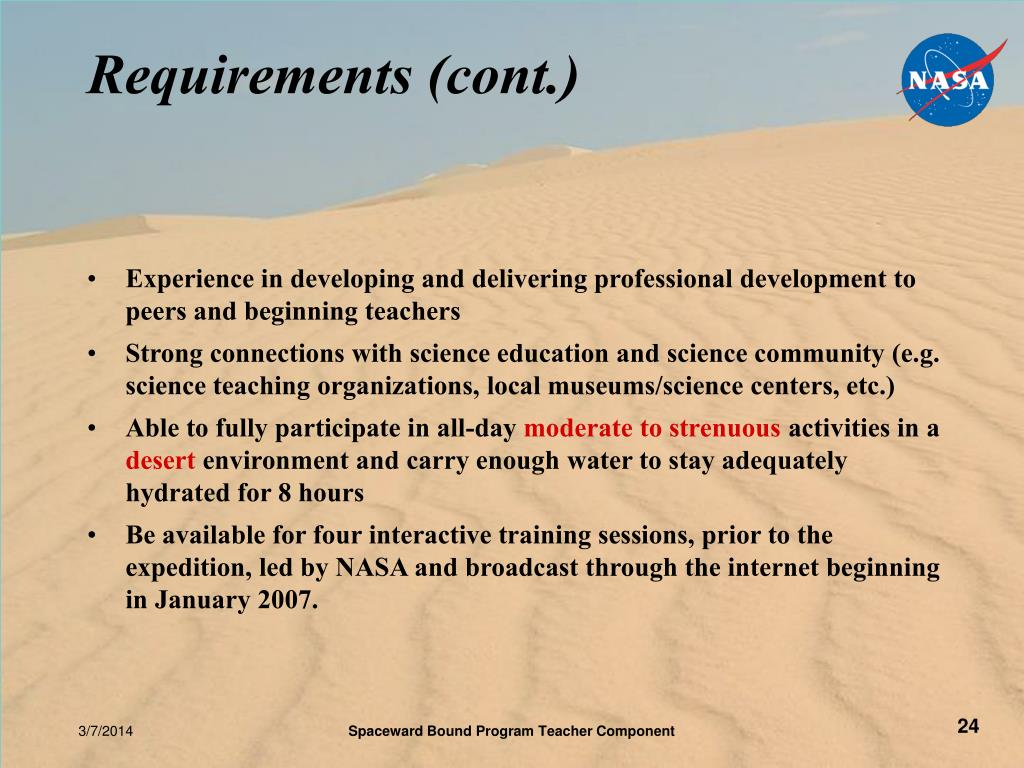 Requirements (cont.)
