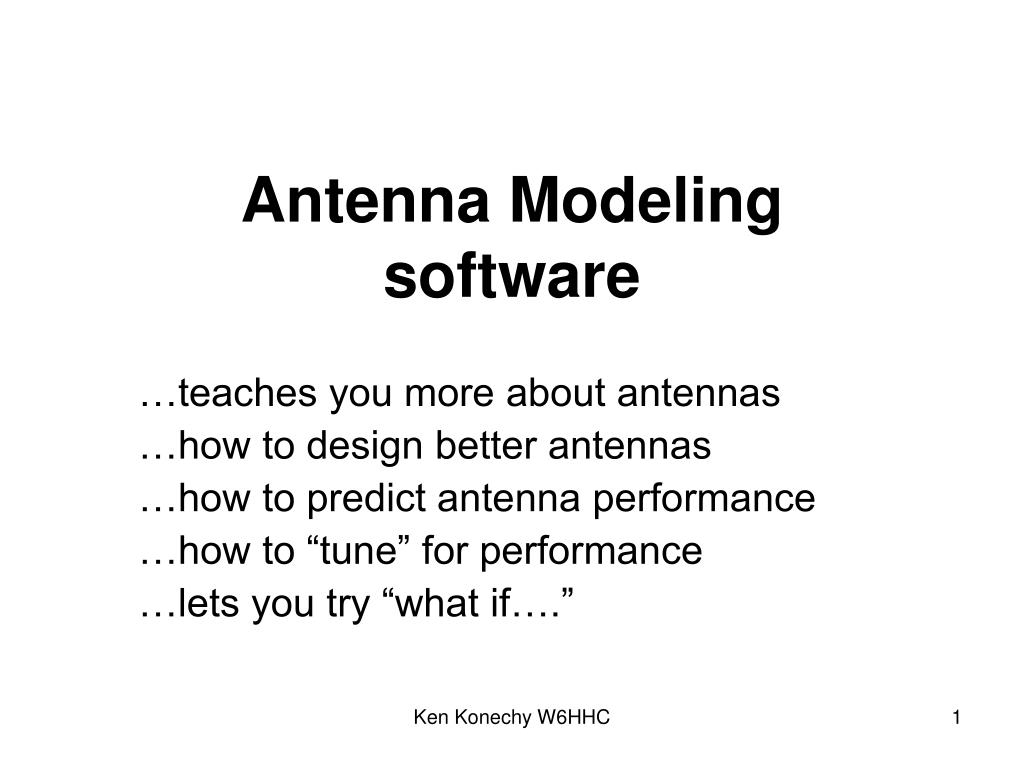 antenna modeling software l.