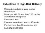 indications of high risk delivery