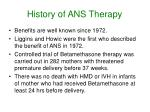 history of ans therapy