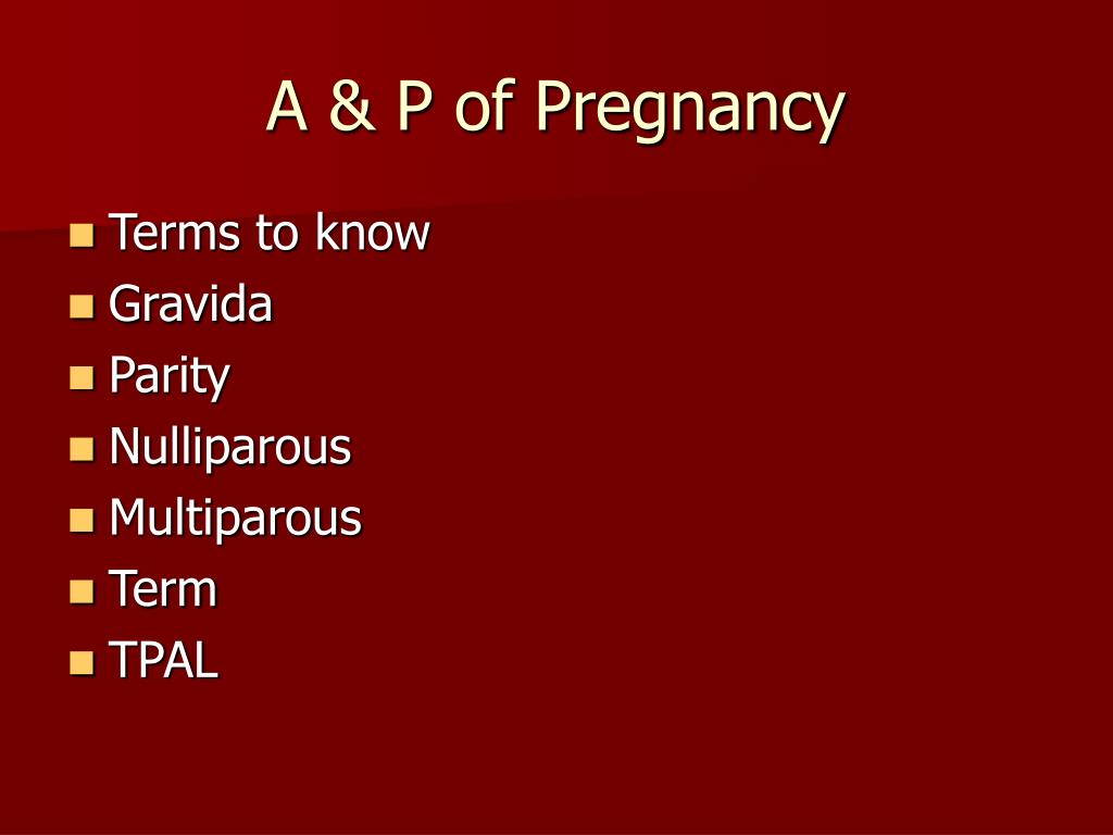 A & P of Pregnancy
