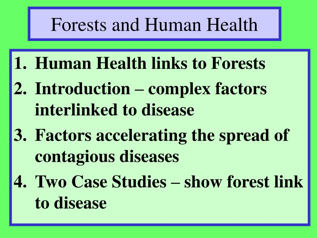 Forests and Human Health