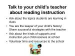 talk to your child s teacher about reading instruction