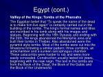 egypt cont