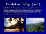 trinidad and tobago cont