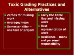 toxic grading practices and alternatives