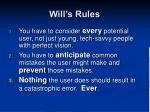 will s rules6