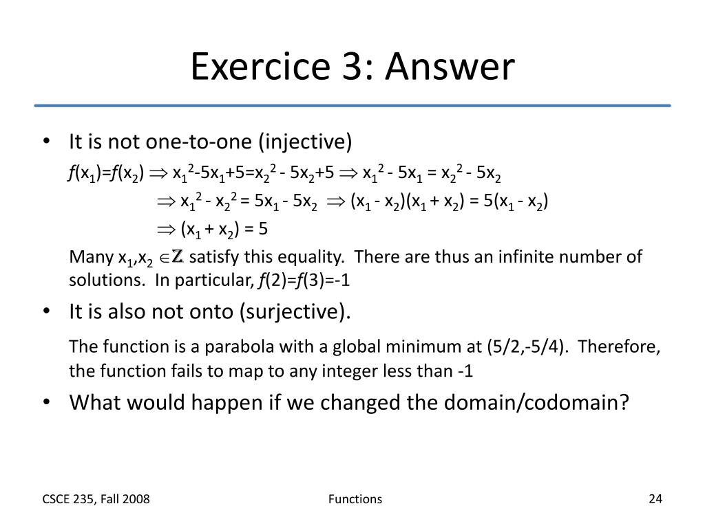 Exercice 3: Answer
