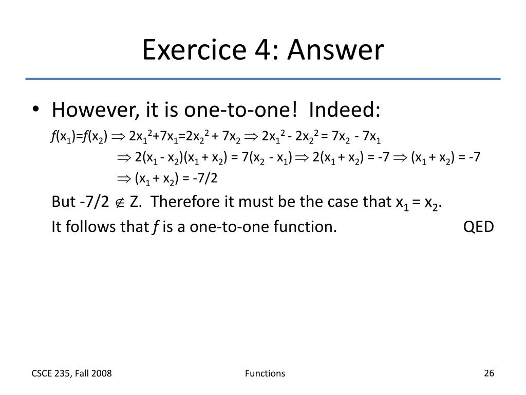 Exercice 4: Answer