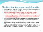 the registry namespace and operation77